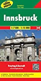 Innsbruck, Austria Map (English, French and German Edition)