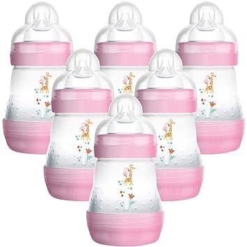 MAM - Juego de 6 biberones de 160 ml anticólicos sin BPA ...