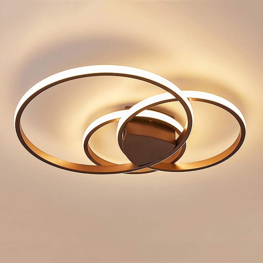 GBLY led Deckenleuchte dimmbar Deckenlampe moderne Deckenbeleuchtung Runde Designlampe 3 flammig mit Fernbedienung, für Kinderzimmer Schlafzimmer Wohnzimmer Esszimmer Restaurant Cafe (Dunkelbraun)