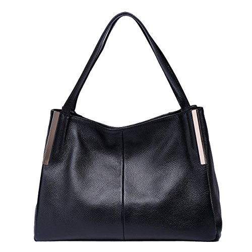 women genuine leather famous brand Tote bags(black) - 9