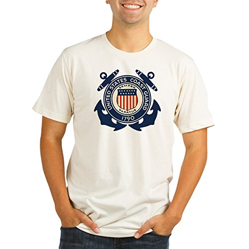 Royal Lion Organic Men's Fitted T-Shirt United States US Coast Guard Seal - 2X - Coast Guard Fitted T-shirt