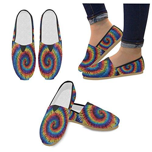 D-histoire Mode Chaussures De Tennis Appartements Tie Dye Mandala Femmes Classique Chaussures De Toile Slip-on Mocassins
