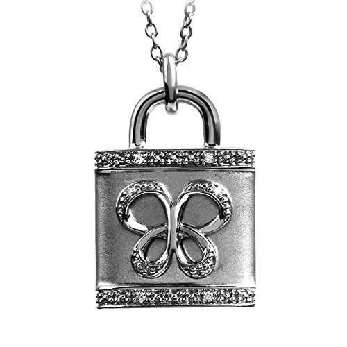 Jessica Simpson Butterfly Necklace (Sterling Silver Diamond Accent Jessica Simpson Butterfly Lock Pendant)