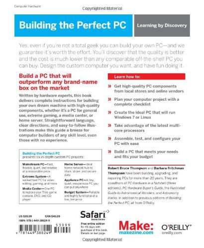 Building the Perfect PC: Amazon.es: Robert Bruce Thompson, Barbara Fritchman Thompson: Libros en idiomas extranjeros