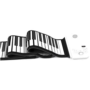 Amazon.es: DUWEN Teclado de Rollo de Mano Infantil 61 Teclas Teclado de Edición Profesional Portátil Plegable Cuerno Mágico Blanco Puro + Paquete de Regalo ...