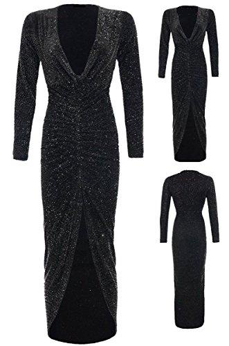 7 Fashion Road Damen Schlauch Kleid schwarz schwarz