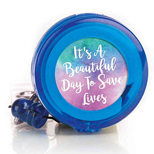 (It's A Beautiful Day to Save Lives Retractable Badge Holder- Includes 10 Badge Holders)