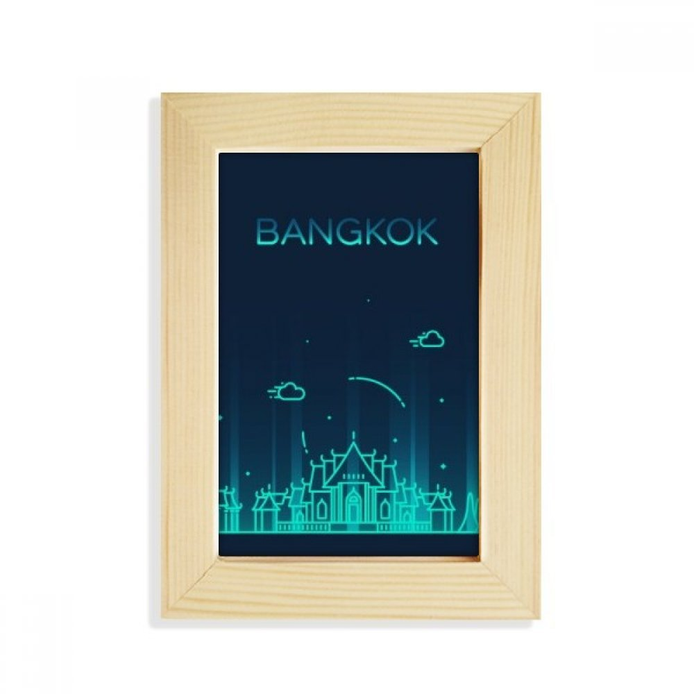 DIYthinker Thai Customs Culture Shadow Bangkok Desktop Wooden Photo Frame Picture Art Painting 5x7 inch by DIYthinker