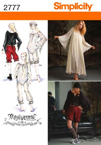Bargain Costumes (Simplicity Sewing Pattern 2777 Misses Costumes, HH (6-8-10-12))