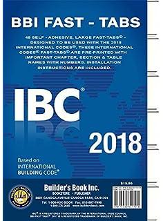 2018 International Building Code (IBC) Fast Tabs