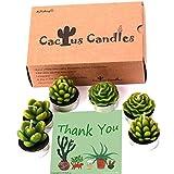 candles amazon - AI·X·IANG Tealight Cactus Candles for Home Decorative Cactus Candles Tea Light Candles (6 Pcs in Box