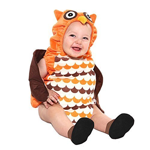 Boo Babies Halloween Costume What a Hoot Owl Sz 0-9 Months 3 Pieces Brown Orange -