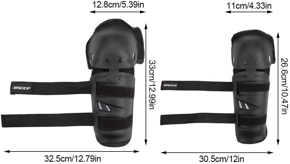 lange Leggings Outdoor-Sicherheitsausr/üstung bruchsicher Ellenbogen- Knieschoner Schienbeinschoner Ellenbogenschoner 4-teiliges Set Knieschoner