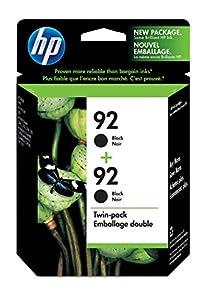 HP 92 Black Original Ink Cartridges, 2 pack (C9512FN)