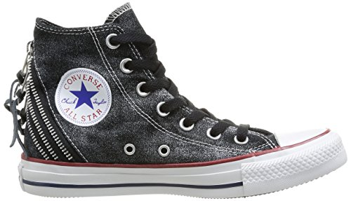4f91ee65a128 Converse Damen Chuck Taylor All Star Femme Sparkle Wash Tri Zip Hi Sneaker  schwarz Talla  Amazon.de  Schuhe   Handtaschen