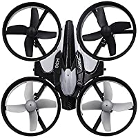 Mini UAV Quadcopter Drone, JJRC 2.4G 4CH 6-axis Gyro Quadcopter Remote Control Drone with Headless Mode and One-key Return (Grey)