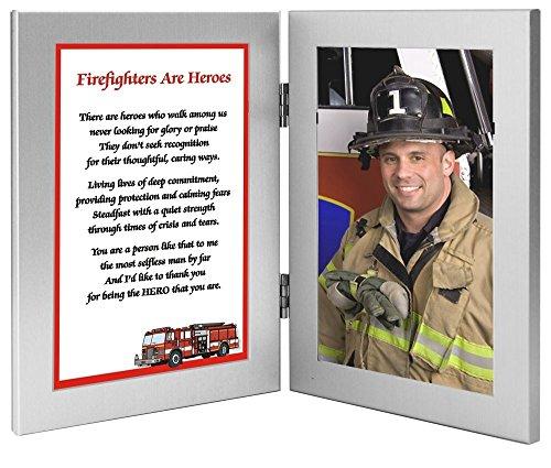 Firefighter Gift - Hero Poem in Frame Honoring Your Favorite Fireman - Add Photo