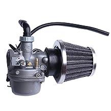 ATV Carburetor PZ19 with Fuel Filter and 35mm Air Filter for 50cc 70cc 90cc 110cc 125cc ATV Dirt Pit Bike Taotao Honda CRF Go-Kart Carb SUNL