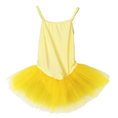 cf7c21706fb5 Girl Ballet Dance Dress Gymnastic Leotard Straps Tutu 5-6 Yrs ...