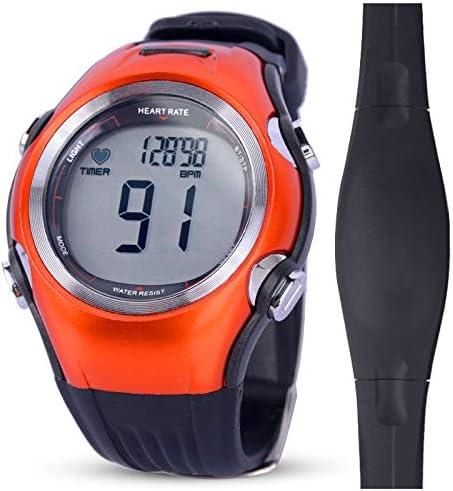 relojes deportivos frecuencia Relojes de monitor de ritmo cardíaco a prueba de agua Contador de calorías Relojes de pulsera deportivos Hombres Mujeres Relojes de fitness Pulsómetro de correa de pecho