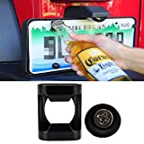 Santu Rear License Plate Car Tailgate Mounted Bottle Opener Accessory fits Jeep Wrangler JK, JKU and TJ Models