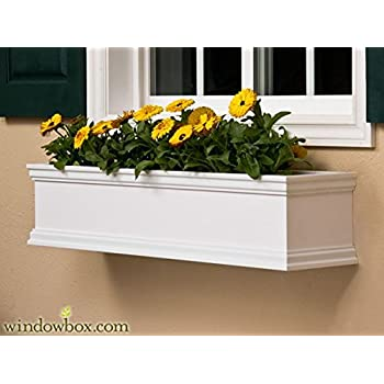 dmc products nantucket 30 inch solid wood window box white plant window boxes. Black Bedroom Furniture Sets. Home Design Ideas