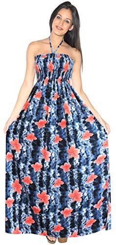 LA LEELA para Mujer de la Tarde de la Falda Maxi Vestido Tubo de Correas de Desgaste de la Playa del Traje de baño Traje de baño Encubrimiento Negro_g934