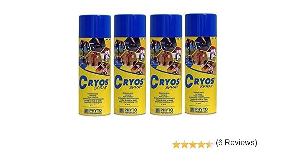Cryos spray frio 400 mL pack de 4 unidades. TOTAL 1600 ML: Amazon ...