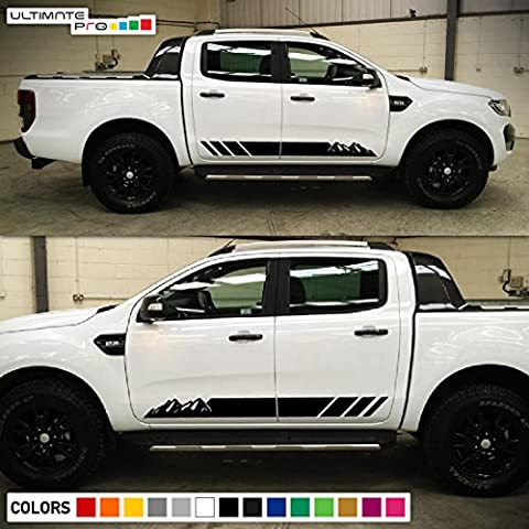 Decal Sticker Graphic Side Stripe Kit Compatible with Ford Ranger T6 2011-2017