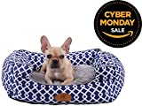 [NEW] PLS Birdsong Trellis Bolster Extra Small Dog Bed - Pet Bed - Cat Bed - Blue & Gray - Extra Small - Removable Cover - Completely Washable - Dog beds for extra small dogs