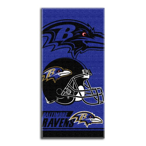 NFL Baltimore Ravens Double Covered Beach Towel, 28 x 58-Inch