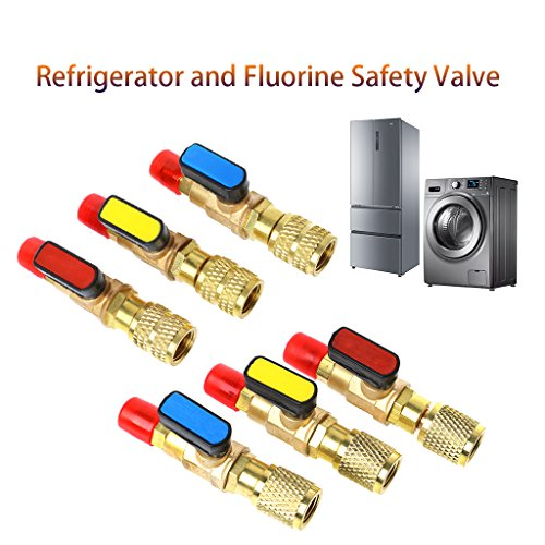 """Utini 1PC 1/4"""" Male to 5/16"""" Female SAE R410A Refrigerant Straight Ball Valve AC Charging #612 from Utini"""