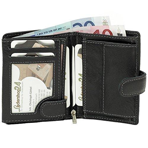 Bolt Sac noir Noir monnaie Cuir Pour À Main Bag Street Hommes En Porte 5x1SSq