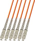 SC to SC 6 Strand 200FT Multimode 62.5/125 Fiber Optic Cable 60m Breakout Type