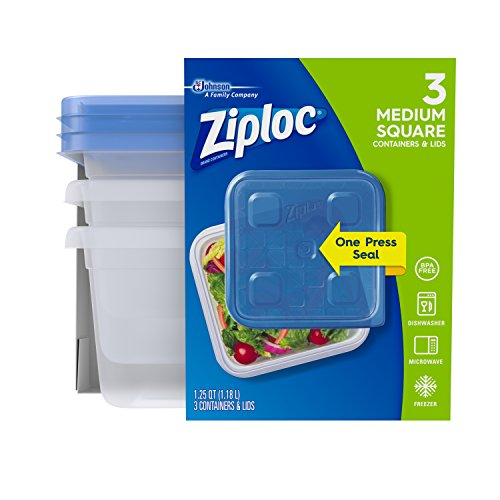 Medium Cupboard (Ziploc Container, Medium Square, 3 ct)
