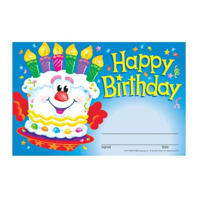 TREND enterprises, Inc. Happy Birthday Cake Recognition Awar