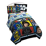 Star Wars Classic Grid 2 Cotton 3 Piece Twin Sheet Set