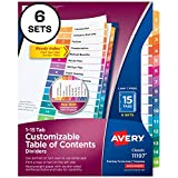 Avery 15-Tab Dividers for 3 Ring