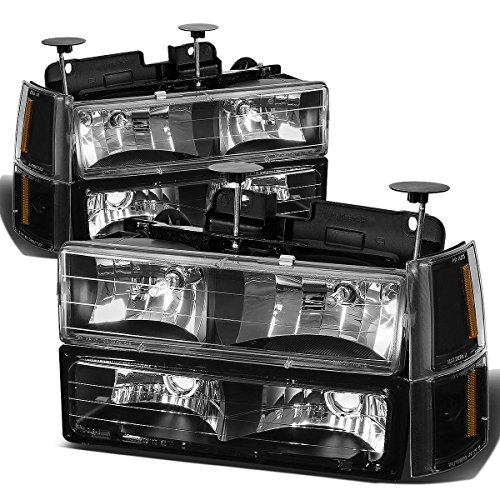 DNA Motoring HL-OH-8P-C10-3G-BK-AM Headlight Assembly, Driver and Passenger Side