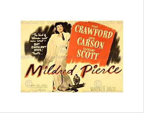 Mildred Pierce Poster - ADVERT MOVIE FILM MILDRED PIERCE JOAN CRAWFORD BLACK FRAMED ART PRINT B12X6432
