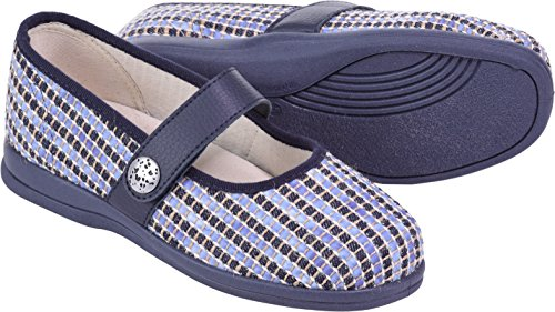 Extra Roomy Fitting Koryl Width Weave Cosyfeet Eeeee Fabric Blue Shoes p6xCw