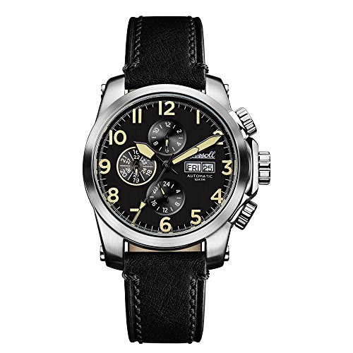 Ingersoll Men's Automatic Stainless Steel and Leather Casual Watch, Color:Black (Model: I03101)