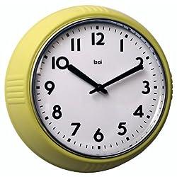 Bai Retro Wall Clock, Chartreuse