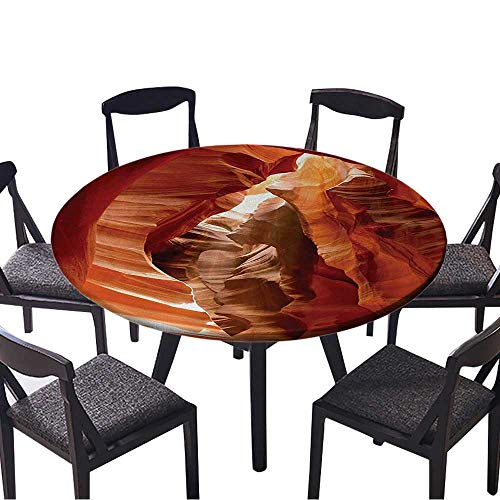 "Round Tablecloths Grand Cany Cave in Colorado Bathroom for Birthday Party, Graduation Party 47.5""-50"" Round (Elastic Edge)"