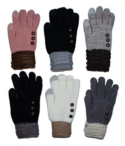 Women's Fleece Lined Acrylic Magic Glove with Touchscreen Technology