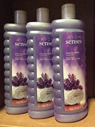 Avon Senses Lavender Garden Bubble bath 24 fl.oz. Lot 3 bottles