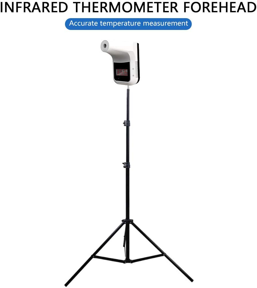 Wall-Mounted or Bracket Non-contact Thermometer Accurate Fast Measuring Forehead With Alarm Fit Public Areas TinaDeer K3 Infrared Temperature Measurement+Adjustable Height Stand Holder