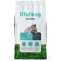 Marca Amazon Lifelong Arena de bentonita para gatos, Premium con perfume de talco 25L