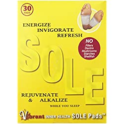 TRR Enterprises Vibrant Inner Health Sole Pads, 30 Count