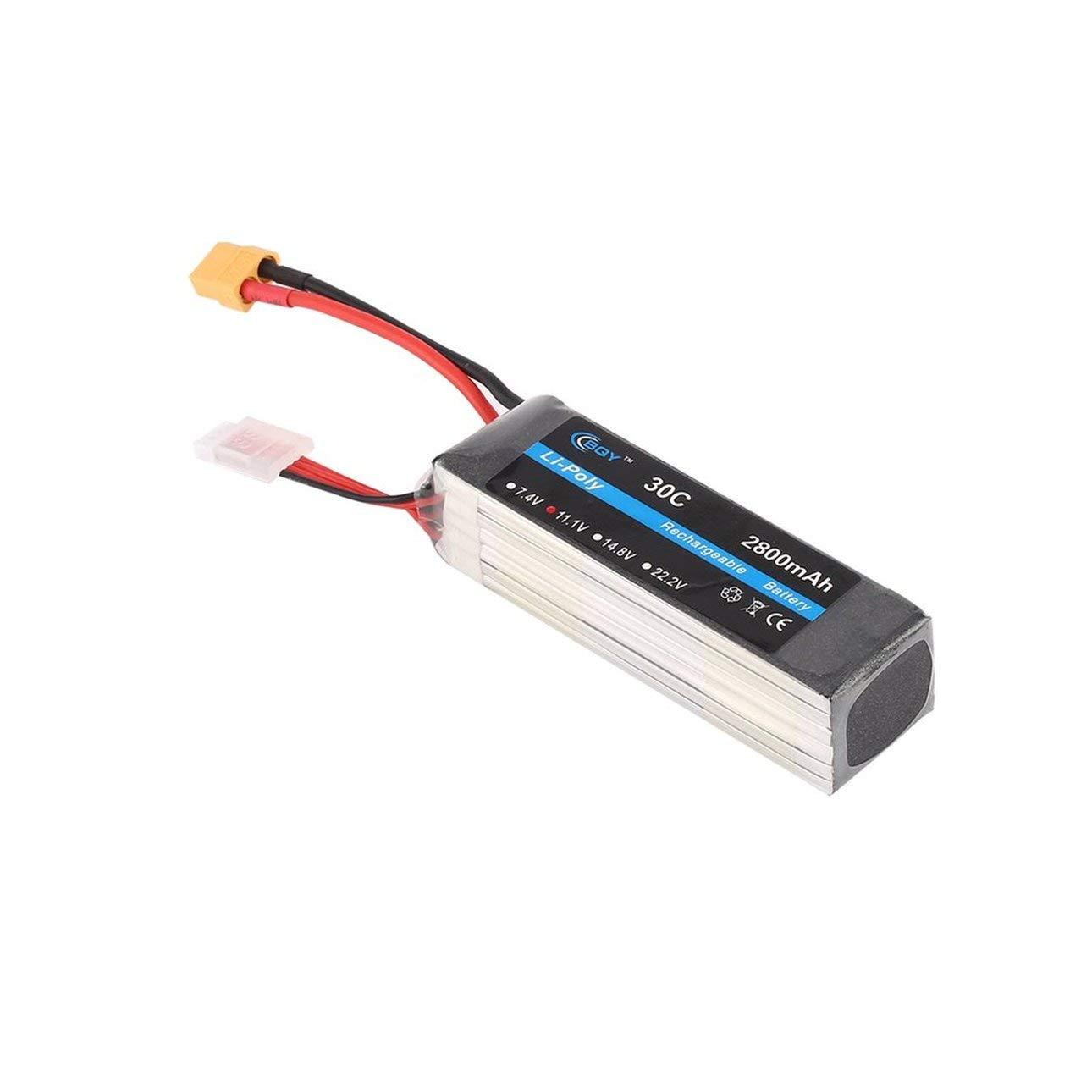 Ballylelly 11.1V 2800mAh 30C XT60 Enchufe Conector Li-Poly Batería ...